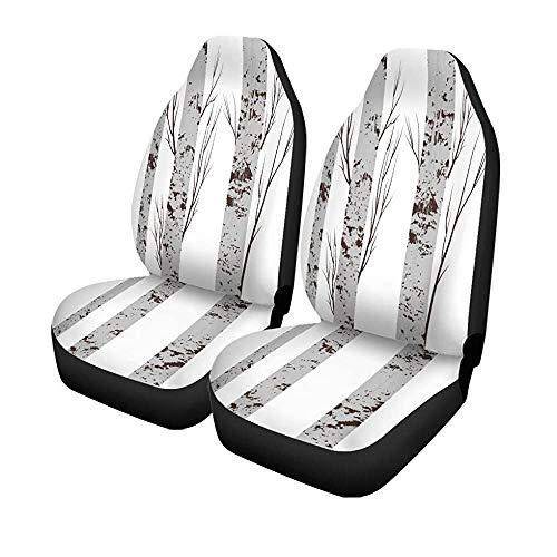 Set mit 2 Sitzbezügen für Autositze, grau, mit bunten Kugeln, Stoff, Grün, Tiere, Bark, Universal für Autositze, Schutz für Vordersitze, 14-17 Zoll