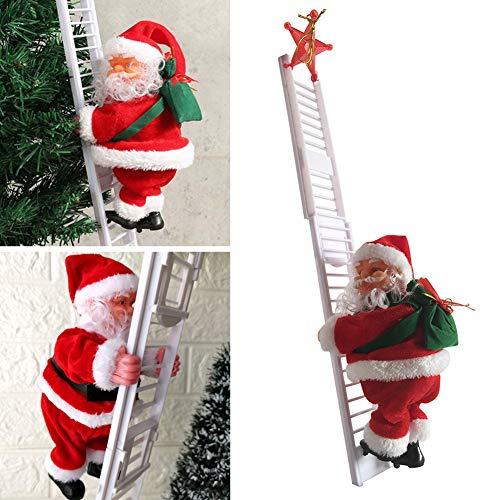 WAQIA Electric Climbing Ladder Santa Claus Christmas Creative Hanging Tree Decoration