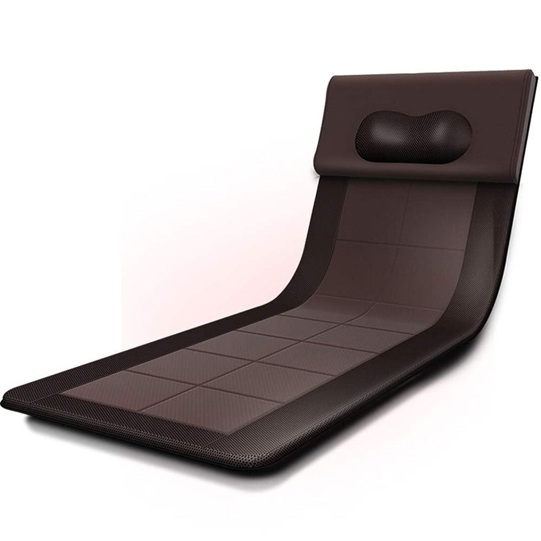 無条件帝国主義ずらすマッサージクッション - ネックウエストバックヒップPU素材ホームオフィス用マッサージクッションマッサージクッション付きヒートクッションマットレス