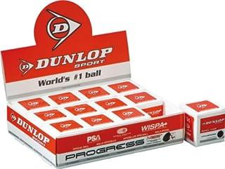 Dunlop Progress Palla da Squash (Punto Rosso)