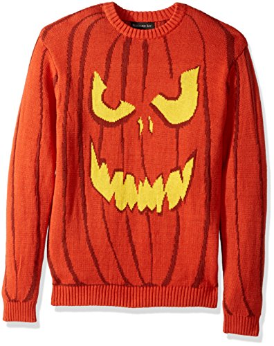 Blizzard Bay Men's Halloween Sweaters, Jack O' Latern, Large