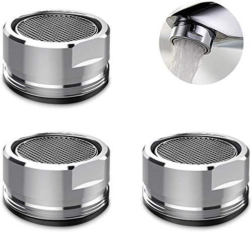 3 Stk Wasserhahn Filter Strahlregler Filtereinsatz Perlator mit Außengewinde - 24mm Sparstrahlregler