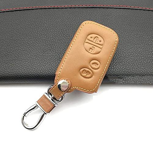 Z0XPin Funda de cuero para llave de coche con 4 botones, llave inteligente colector de polvo, llave de coche con control remoto para Toyota Camry (marrón)