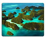 Palau Islands Pacific Ocean Mouse Pads Customized Made to Order Support Ready 9 7/8 Inch (250mm) X 7 7/8 Inch (200mm) X 1/16 Inch (2mm) Eco Friendly Cloth with Neoprene Rubber Liil Mouse Pad Desktop Mousepad Laptop Mousepads Comfortable Computer Mouse Mat Cute Gaming Mouse pad