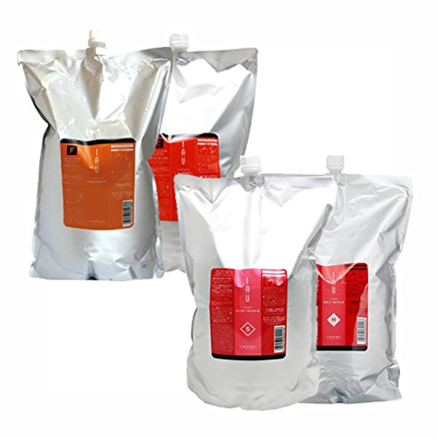 夜酸っぱい石鹸ルベル イオ クレンジング ( フレッシュメント & クリアメント ) + クリーム ( シルキーリペア & メルトリペア ) 詰め替え2500mLサイズ 4点セット