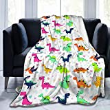 "DEMO QUEEN Cute Animal Dinosaur Blanket Love Cartoon Dinosaurs Throw Blankets Ultra Soft Microfiber Fleece Blankets Durable, Perfect for Couch Sofa Beds 50""X40"""