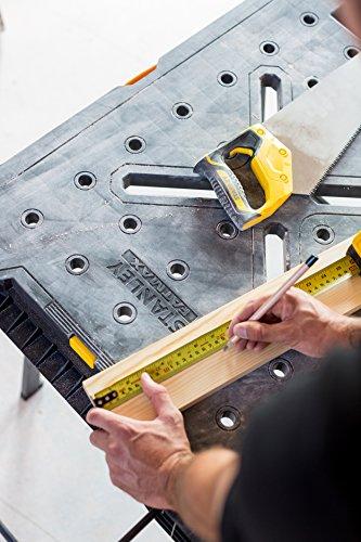 Stanley FatMax klappbare Werkbank / Express Werkbank (bis 455kg belastbar, mit Metallbeinen für höchste Stabilität, große Arbeitsfläche, mit praktischem Tragegriff, für schnellen Aufbau) FMST1-75672 - 3