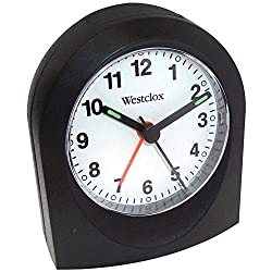 Westclox (Black 47312A Bedside Analog Alarm Clock