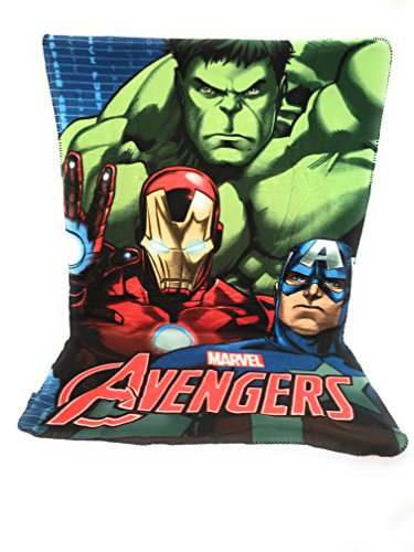 Copertina in pile – Plaid in pile Bambini – 140 x 100 cm – Sublimation Double Face – 170 GR/M2 – Avengers – Marvel – Hulk – Ironman – Captain América