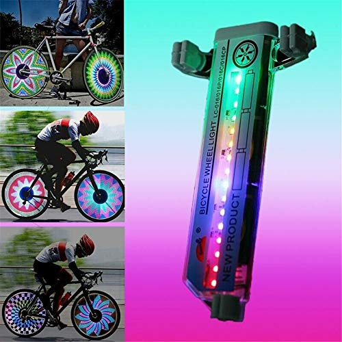 EFEG 3D Bicycle Spokes LED Lights Bright,Colorful Bicycle Wheel Light Waterproof Cool 32 Patterns 2pcs