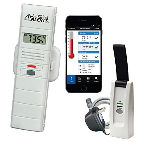 La Crosse Alerts Temperature Monitor & Alert Kit (926-25100-WGB)
