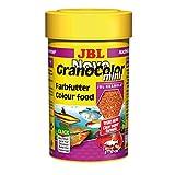 *JBL NovoGranoColor 30097, Alleinfutter für kleine farbenprächtige Aquarienfische, Nachfülldose, Granulat, 100 ml