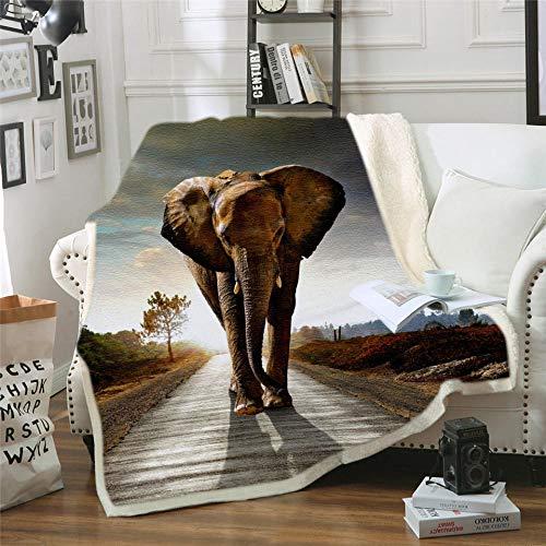 PengMu Sofa Bed Deken 3D gedrukt verdikt gekruld katoen fluweel kristal fluweel houten olifant Zachte Warm Sofa Bed Auto Thuis Travel Producten