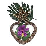PietyDeko 96 Stück Tropische Palmblätter und Hawaiian Blumen für Dekorationen - 7