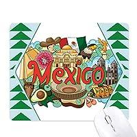 テオティワカンについてメキシコグラフィティ オフィスグリーン松のゴムマウスパッド