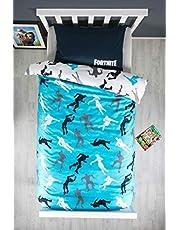 Fortnite Funda de edredón oficial individual con diseño de dabbing   Funda de edredón azul con funda de almohada a juego reversible