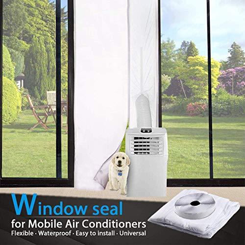 TOPOWN 210x90cm Türabdichtung Für Mobile Klimageräte und Abluft-Wäschetrockner Türabdichtung Klimaanlage Einfache Installation Kein Bohren erforderlich
