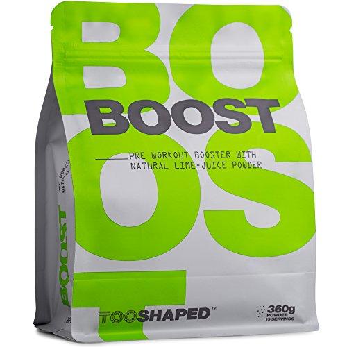BOOST - Refuerzo pre workout con BCAA, L-citrulina, cafeína y otros. Más impulso, energía y resistencia (suplemento deportivos) con TOOSHAPED (360 g en polvo)