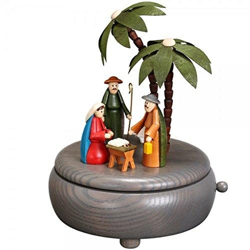 Frühlingsdekoration Spieldose Blumenkinder bunt BxHxT 13x14x13 cm NEU Spieluhr Spielwerk Musikdose Musik Figur Seiffen Erzgebirge Holz Dekoration Weihnachten