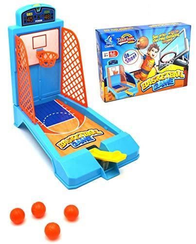 VENTURA TRADING Mesa Mini Baloncesto Juego de Baloncesto Set de Regalo para Office Desktop Home Baloncesto Baloncesto de Mesa