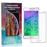 GIMTON Displayschutzfolie für Galaxy Alpha G850F, 9H Härte Anti Fingerprint Displayschutz, Ultra Dünn Schutzfilm aus Gehärtetem Glas für Samsung Galaxy Alpha G850F, 2 Stück