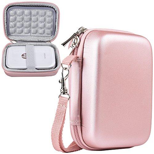 Katia Stoßfest Tasche/Tragetasche Lagerung Reisetasche für HP Sprocket Portable Fotodrucker/Polaroid Zip Mobile Drucker Schutzhülle Box (Gold)