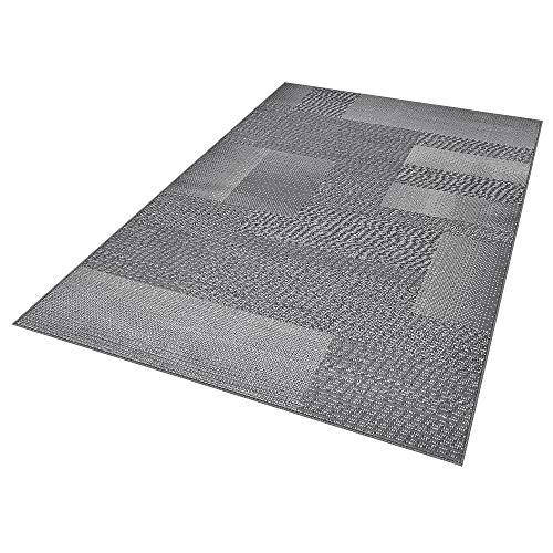 TeppichBoss Design Kurzflorteppich Teppich Marble kariert meliert Karo, Farbe:hellgrau, Größe:160x230 cm