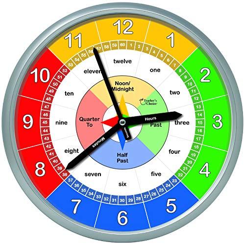 Relojes De Pared Para Niños  marca Teacher's Choice