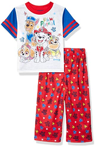 Nickelodeon Boys' Toddler Paw Patrol Pajama Set, Watercolor Purps, 2T