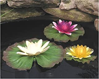 KFK Floating Lily Lights - Yellow, Lavender, Frost
