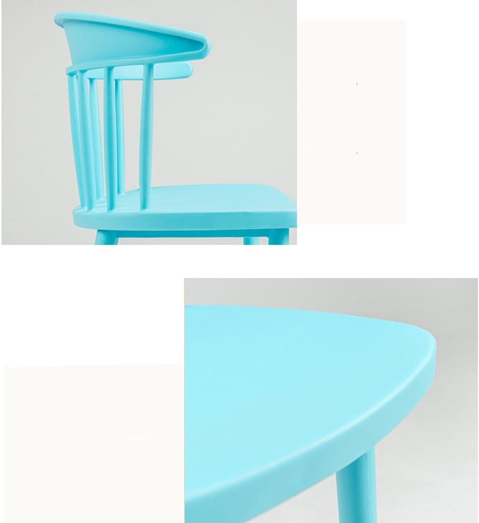 SLL- Moderne Minimaliste dinant la Chaise à la Maison en Plastique Nordique Loisirs Chaise de Mode Moderne (Color : C) A