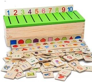 لعبة تعليمية (مونتسورى) لتعليم الاطفال الرياضيات مصنوعة من الخشب صديق البيئة