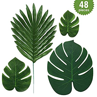 srinea Faux Palm Leaves  Artificial Turtle Leaf...