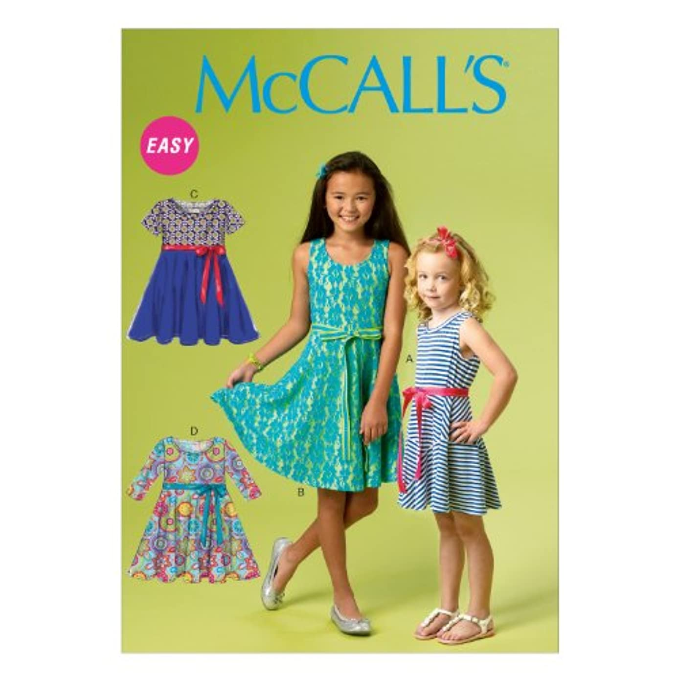 McCall Pattern Company M6915 Chidren's/Girls Dresses, Size CCE esb5543317