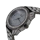 Techno King Men's Fashion Soul of Stone Series'Black Rock' Watch (1078GM Black)