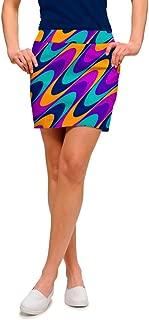Loudmouth Golf-100% StretchTech-John Daly Fun 70s Razzberry Swirl Women's Skort
