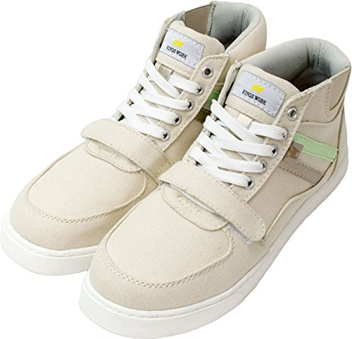 [モキャップ] 安全靴 レディース ハイカット おしゃれ 先芯入り 作業用 ベーシック 軽量 かわいい 作業靴 滑らない セーフティーシューズ ベージュ 24.0cm cpl364k