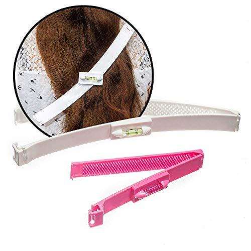 Haarschneide Hilfe Clip,1 Set Haare selber schneiden leicht gemacht,Scherer Styling,Professionelles Haarschneidewerkzeug Set Werkzeug (Rosa)