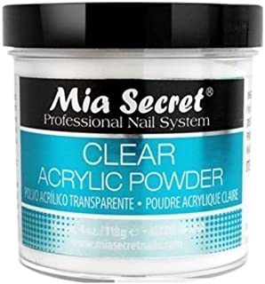 Mia Secret Professional Acrylic Nail System Clear Acrylic Powder, 4 oz.