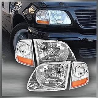 Headlights & Corner Parking Lights Kit Set for F150 Expedition Lightning Style
