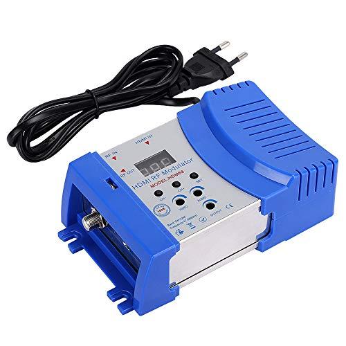 Dpofirs Modulador HD, Frecuencia Digital Entrada HDMI RF VHF/UHF con Puerto HDMI, Salida Analógica RF Modulador PAL/NTSC, Formato Estándar de TV, Accesorios de Computadora 100-240V