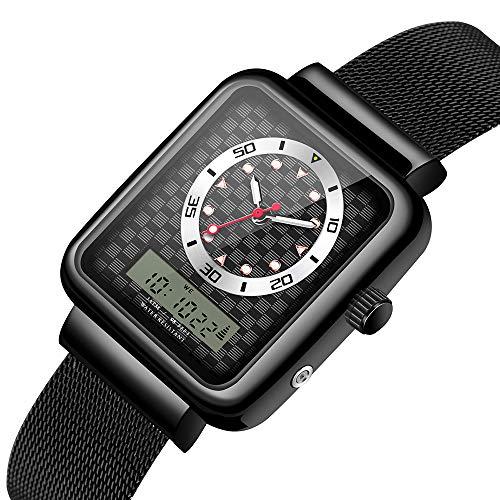 LIRONG Multifunctionele Horloge Student Multi-Functie Lichtgevende Dubbele Display Elektronisch Horloge 30M Waterdicht En Schokbestendig Horloge