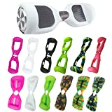 ABBY Coque Silicone Protection Hoverboard 6.5 Pouces Gyropode Trottinette électrique 2 Roues Scooter Overboard (Blanc+Zipper)