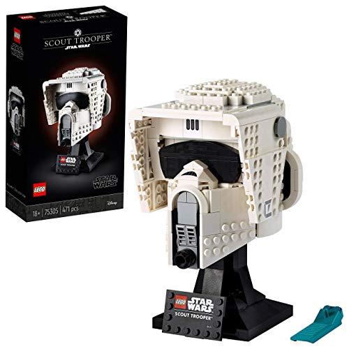 LEGO 75305 StarWars LeCasqueduScoutTrooper, Jeu de Construction pour Adulte, Modèle de Collection, Idée de Cadeau