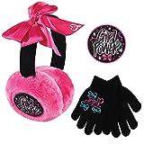 Nickelodeon Toddler Winter Earmuffs and Kids Gloves,JoJo SiwaEar Warmers, Black, Little Girls, Ages 4-7