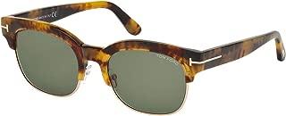 Tom Ford FT0597 Harry Sunglasses Light Havana w/Green Lens 55N TF597