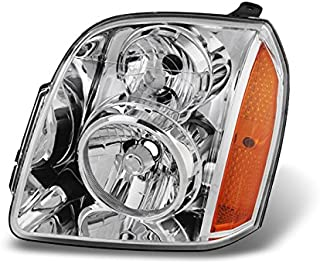 For 2007-2013 GMC Yukon   XL   Hybrid LH Driver Left Side Clear Headlight Headlamp Assembly Replacement