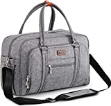 Baby Changing Bag, WELAVILA Nappy Diaper Bags for Mom and Dad with Changing Pad & Insulated Pockets, Convertible Travel Tote Messenger, Gray