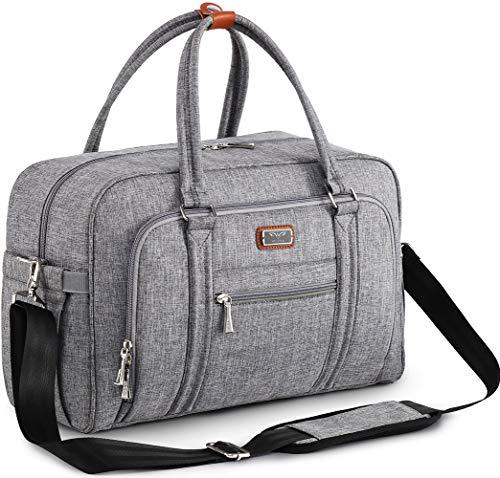 Wickeltasche, WELAVILA Wickeltaschen für Mama und Papa, mit Wickelauflage und isolierten Taschen, umwandelbare Reisetasche Messenger, grau