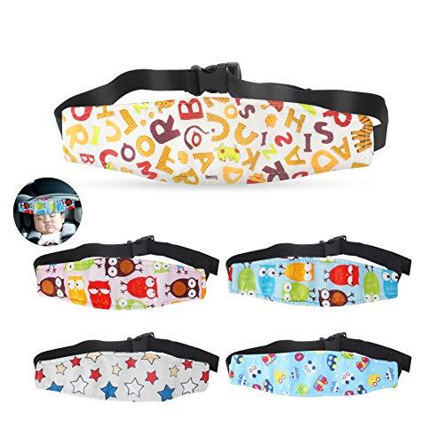 Dadabig 5 Pezzi Seggiolino Supporto per Testa Dormire Cintura di Sicurezza per Bambini e Neonato Fascia Supporto per Bambini in Auto Passeggino,5...
